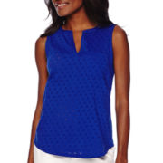 Liz Claiborne® Sleeveless Punched Top
