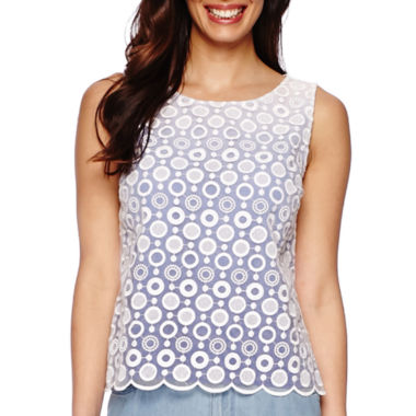 jcpenney.com | Liz Claiborne® Sleeveless Lace Top - Tall