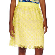 Liz Claiborne® Pull-On Lace Skirt - Tall