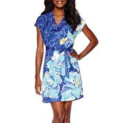 Liz Claiborne® Extended Sleeve Floral Dress