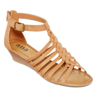 jcpenney.com | a.n.a® Grate Low-Wedge Strap Sandals
