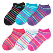 Mixit™ 6-pk. Microfiber No-Show Socks