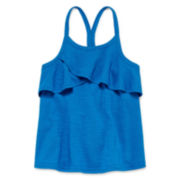 Okie Dokie® Ruffle Tank Top - Preschool Girls 4-6x