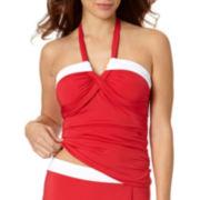 Liz Claiborne® Colorblock Molded Bandeaukini Swim Top