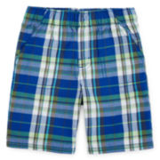 Okie Dokie® Pull-On Plaid Shorts - Preschool Boys 4-7