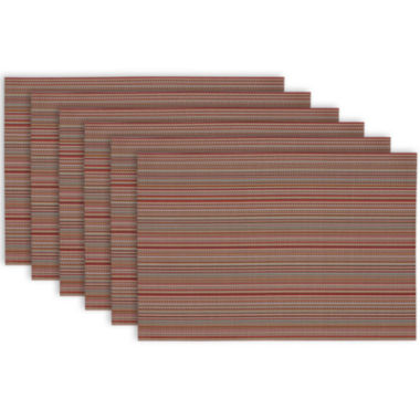 jcpenney.com | Design Imports Micro Stripe Set of 6 Placemats
