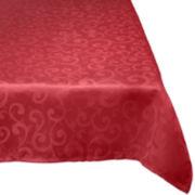Damask Wrinkle-Resistant Tablecloth