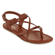 Mia Girl® Adrianna Braided Flat Sandals