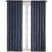 Eliza Rod-Pocket Embroidered Curtain Panel