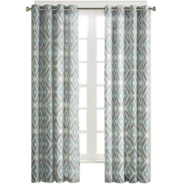 jcpenney.com | Stetsen Diamond-Printed Grommet-Top Curtain Panel