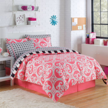 jcpenney.com | VCNY Kennedy Reversible Complete Bedding Set withSheets