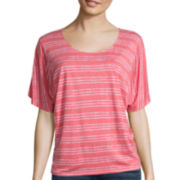 Stylus™ Flutter-Sleeve Striped Top