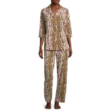 jcpenney.com | Warm Milk by Bedhead 3/4-Sleeve Notch Pants Pajama Set
