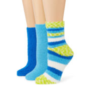 Cozy Stripe 3-pk. Slipper Socks
