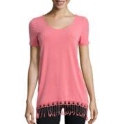Alyx® Short-Sleeve Fringe Top