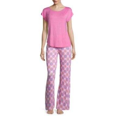 jcpenney.com | Jasmine Rose Cap-Sleeve Top and Pant Pajama Set