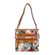 Bueno Print Multi-Zip Crossbody Bag