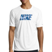 Nike® Eclipse Short-Sleeve Wave Swim Tee