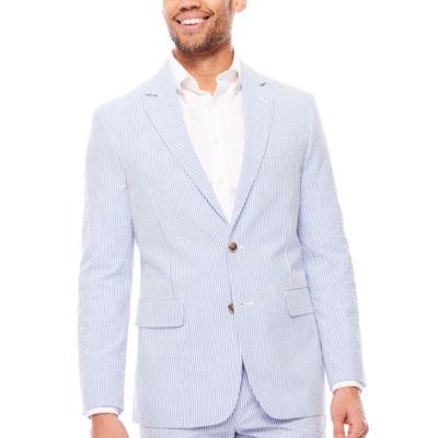 Stafford Blue White Seersucker Jacket Cls