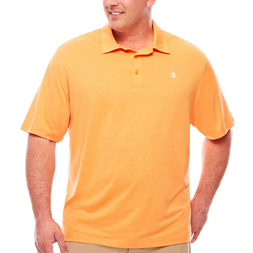 IZOD Short Sleeve Solid Knit Polo Shirt Big and Tall