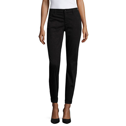 Liz Claiborne® City-Fit Skinny Boyfriend Ankle Pants