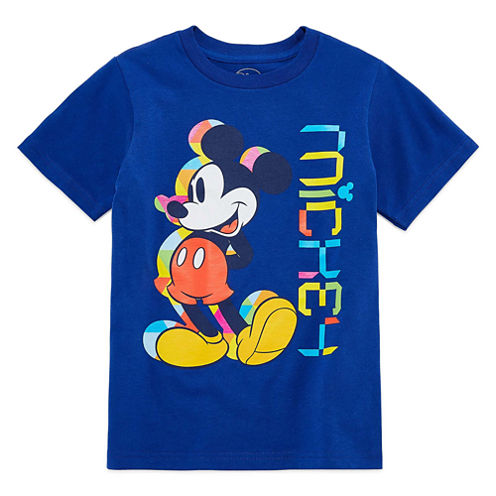 Disney Short Sleeve Mickey Mouse T-Shirt-Big Kid