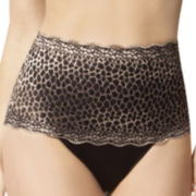 Skinnygirl Microfiber and Lace Shaping Thong Panties - 7238