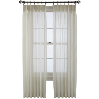 jcpenney.com | MarthaWindow™ Voile Pinch-Pleat Sheer Panel Pair