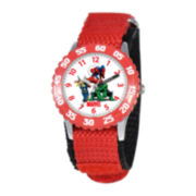 Marvel Hulk Time Teacher Kids Red Fat Strap Watch