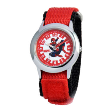 jcpenney.com | Marvel Spiderman Time Teacher Kids Red Fast Strap Watch