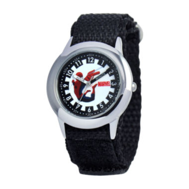 jcpenney.com | Marvel Spiderman Time Teacher Kids Black Fast Strap Watch