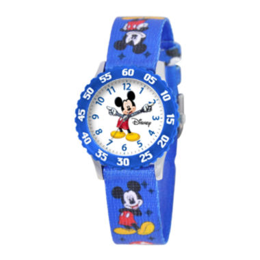 jcpenney.com | Disney Articulating Mickey Mouse Kids Blue Watch