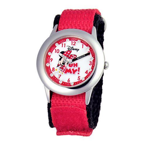 Disney Time Teacher Minnie Mouse Kids Red Watch