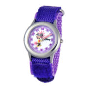 Disney Time Teacher Minnie Mouse Kids Purple Strap Watch
