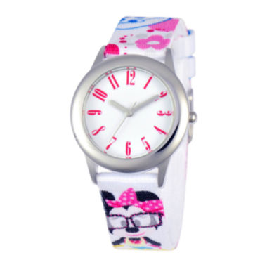 jcpenney.com | Disney Minnie Mouse Tween White Strap Watch