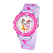 Disney Glitz Princesses Tween Purple Strap Watch