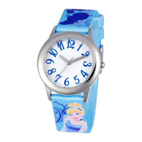 Disney Cinderella Tween Blue Strap Watch