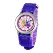 Disney Time Teacher Cinderella Purple Fast Strap Watch
