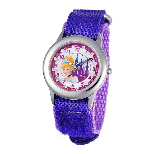 Disney Time Teacher Cinderella Purple Fast Strap Watch
