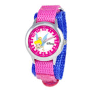 Disney Time Teacher Tinker Bell Pink Fast Strap Watch