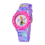 Disney Time Teacher Tinker Bell Kids Purple Graphic Strap Watch