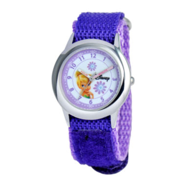 jcpenney.com | Disney Time Teacher Tinker Bell Purple Fast Strap Watch