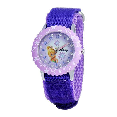 Disney Time Teacher Tinker Bell Kids Purple Watch