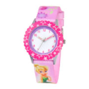 Disney Tinker Bell Kids Pink Graphic Strap Watch