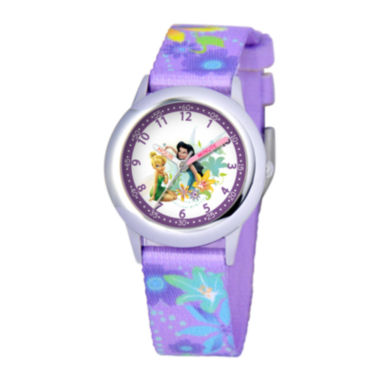 jcpenney.com | Disney Kids Time Teacher Nylon Strap Fairies Watch
