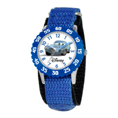 jcpenney.com | Disney Cars Kids Nylon Strap Easy-Read Fast Strap Watch