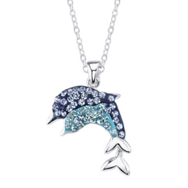jcpenney.com | Crystal Sophistication™ Blue Sapphire & Crystal-Accent Dolphin Pendant Necklace