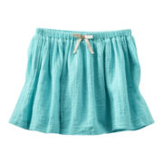 OshKosh B'gosh® Turquoise Woven Skirt - Girls 2t-4t