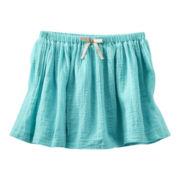 OshKosh B'gosh® Turquoise Woven Skirt - Girls 2t-4t