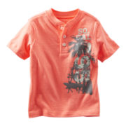 OshKosh B'gosh® Coral Graphic Henley Short-Sleeve Tee - Boys 2t-4t